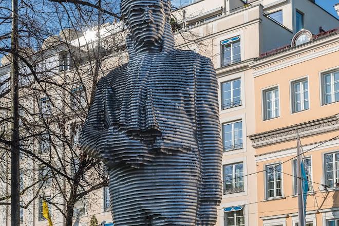 Sculpture of Maximilian Joseph Graf Von Montgelas, Munich, Germany