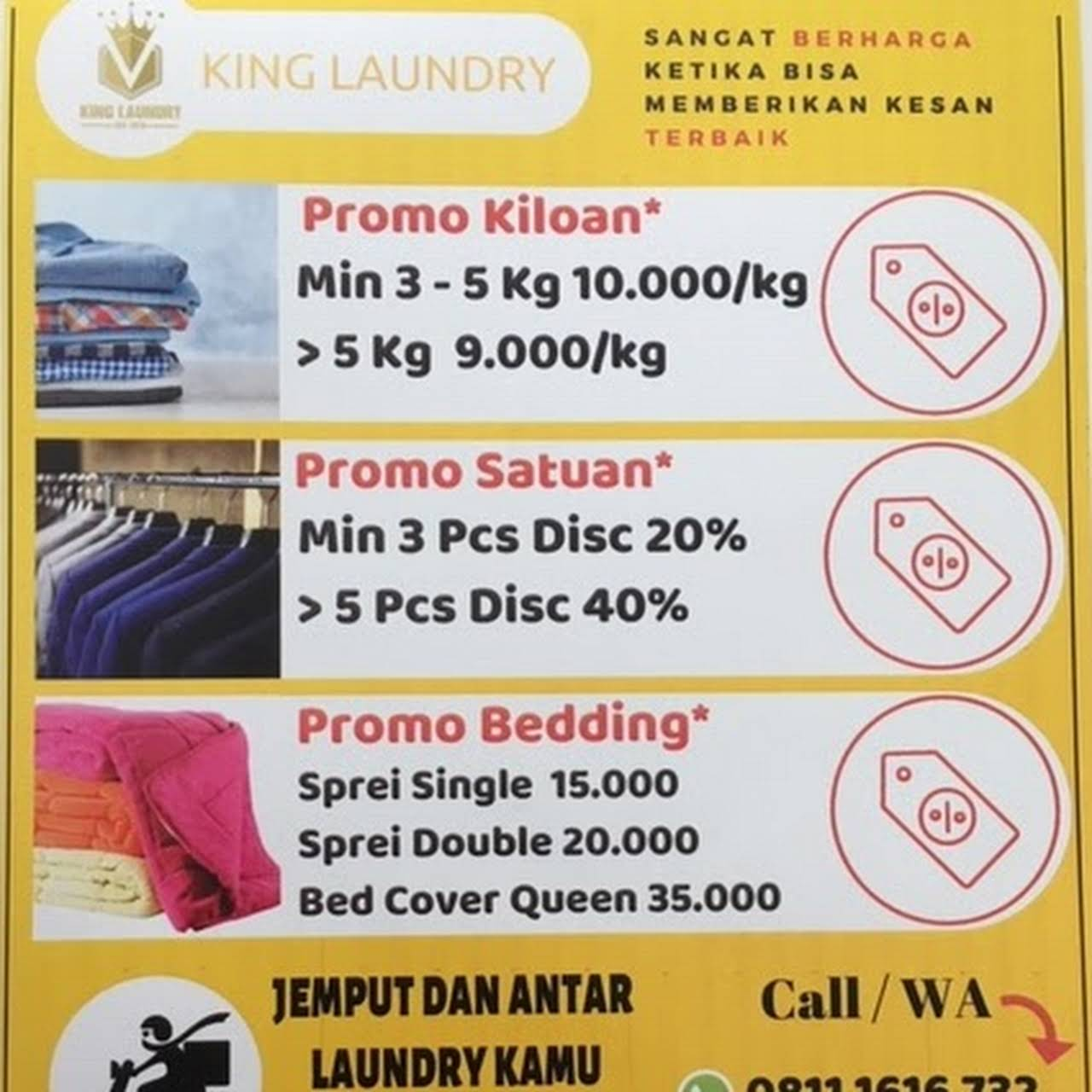 King Laundry Tanjung Duren Coin Operated Laundry Equipment Supplier