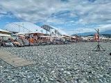 Пляж курорту Роза Хутір