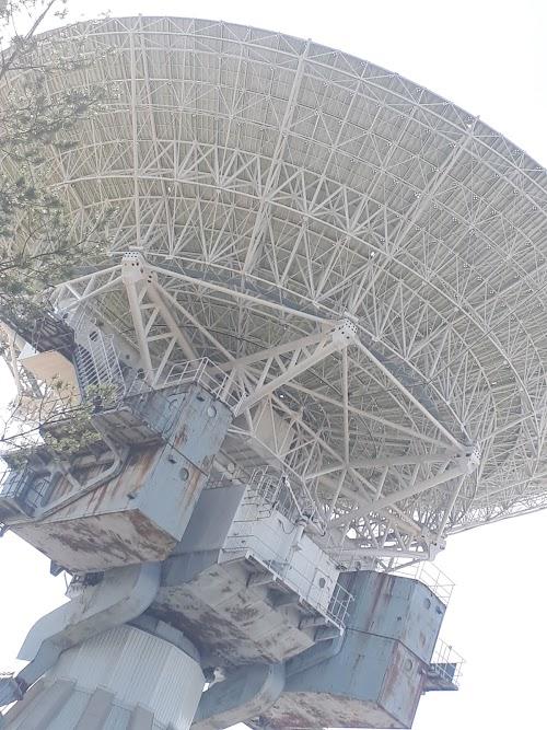 Irbene radio telescope visitor center