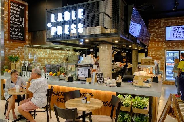ladle + press