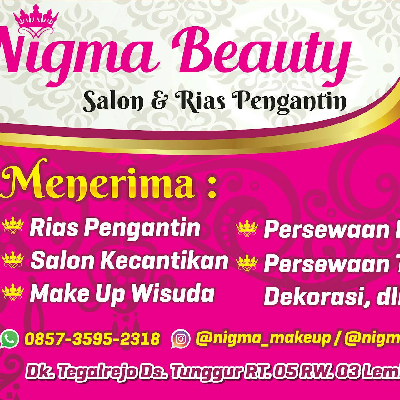 Nigma Beauty Salon Rias Pengantin Salon Kecantikan