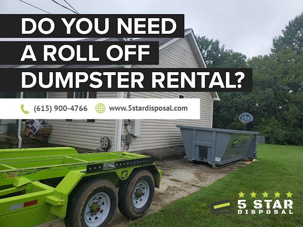 5 Star Disposal Dumpster Rental Woodbury TN