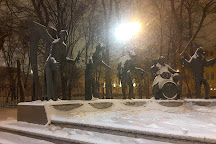 Monument: The children - victims of adult vices, Moscow, Russia