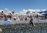 Пляж Бархатные сосны в Адлере