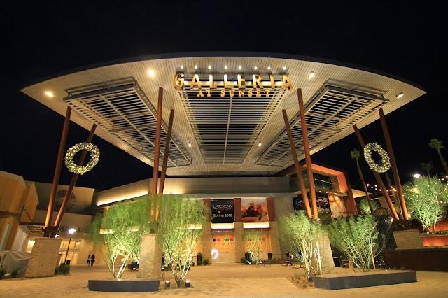 Galleria at sunset