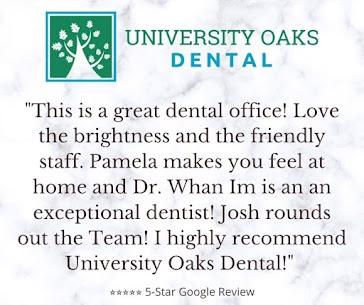 University Oaks Dental 5-Star Google Review