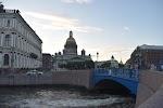 Синий мост, набережная реки Мойки на фото Санкт-Петербурга
