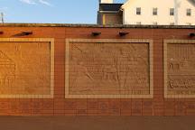 Brick Wall Sculpture, Sugarcreek, United States