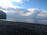 Галечный пляж в Дюрсо