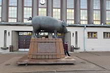 Sculpture Bronze Pig, Tartu, Estonia