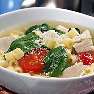 Barilla® Slow Cooker Ditalini Soup with Chicken and Spinach.