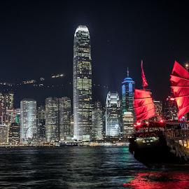 Hong Kong  by Cary Chu - City,  Street & Park  Night