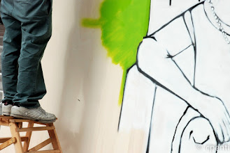 Photo: Bologna (Italy) - Stand-up action: graffiti