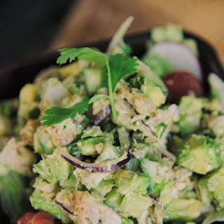 Avocado, Cucumber And Cilantro Tuna Salad.