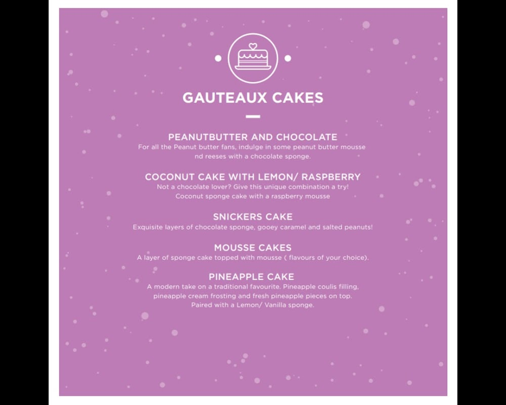 Indulge - The Dessert Co menu 5