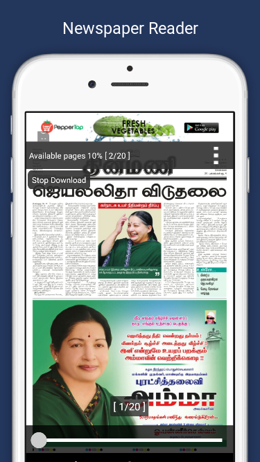 Dinamani Tamil Newspaper- screenshot