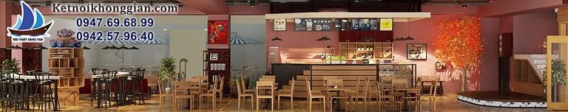thiết kế quán cafe sách rộng và thoáng