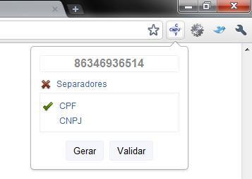Gerador e Validador de CPF/CNPJ