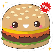 🍔🧁 Kawaii Food Stickers - New WAStickerApps
