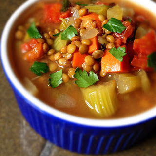 Slow Cooker Lentil Soup with Bacon