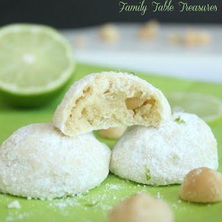 Lime & Macadamia Nut Snowball Cookies Recipe