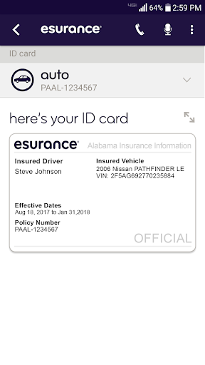 Esurance Mobile screenshot