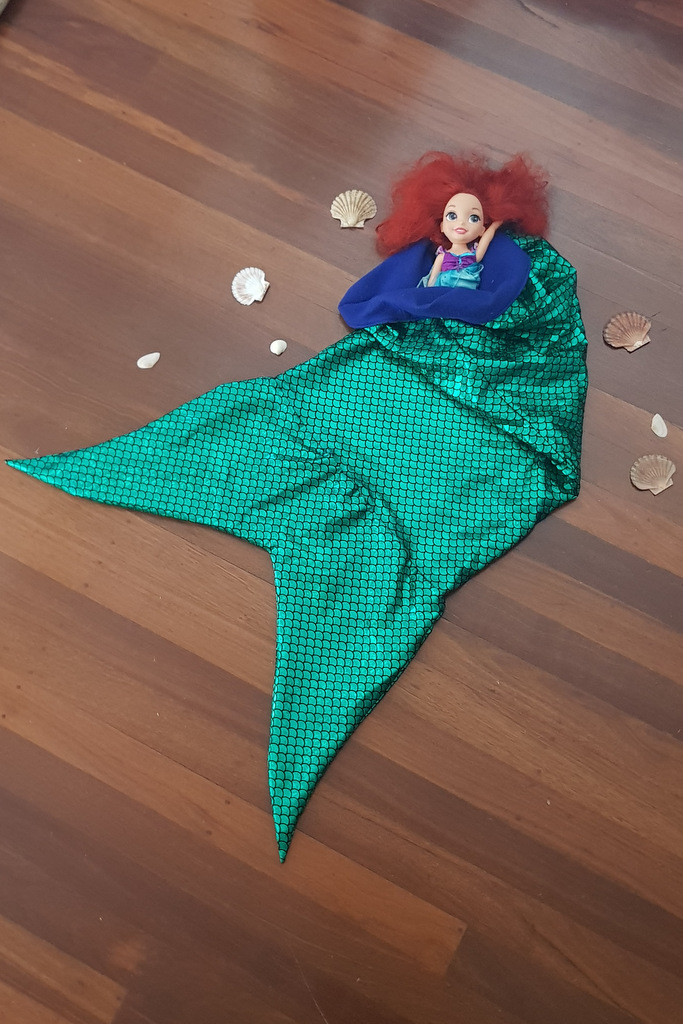 sea snuggler blanket and ariel