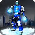 Ice Hero Robot 3D: Flying Robot Fighting Game icon