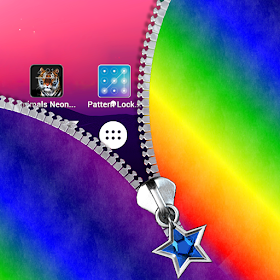 Rainbow Zipper Lock Screen