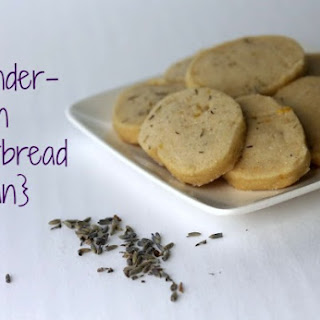 Lavender Lemon Shortbread [Vegan]