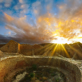 City of the Sky by Craig Bill - Buildings & Architecture Decaying & Abandoned ( ruins, sunset, chaco culture, chaco, new mexico )