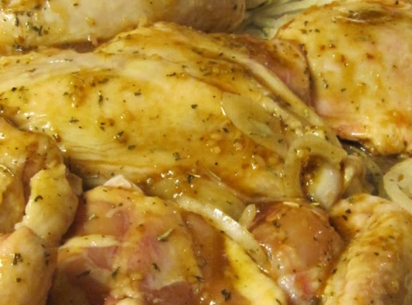 Rinse chicken in cool water and pat dry with paper towels. Place chicken pieces...