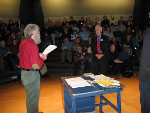 "Photo: Don Olson honors Daniel Ellsberg of ""Pentagon Papers' fame"