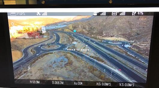 Un dron vigila la Autovía del Mediterráneo