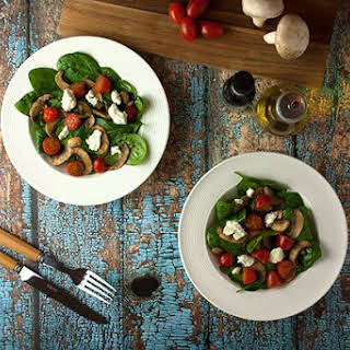 Mushroom & Spinach Salad.