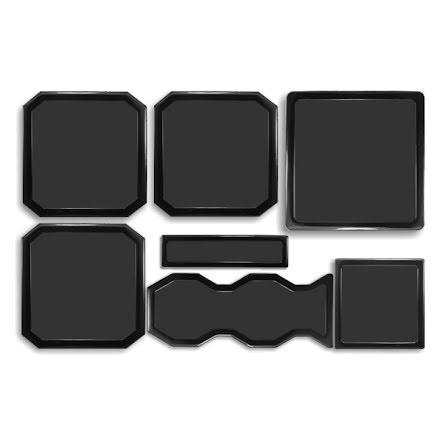 DEMCiflex magnetisk filtersett for Cooler Master HAF X, sort