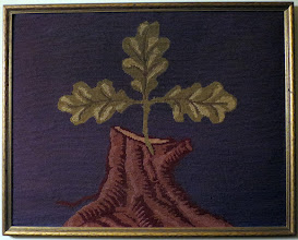 Photo: Needlework representation of the Coat of Arms of Stavanger, made before the official coat of arms was adopted