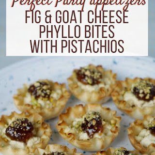 Fig & Goat Cheese Bites with Pistachios.