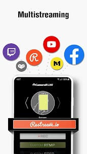 CameraFi Live – YouTube, Facebook, Twitch and Game Apk  Download For Android 5