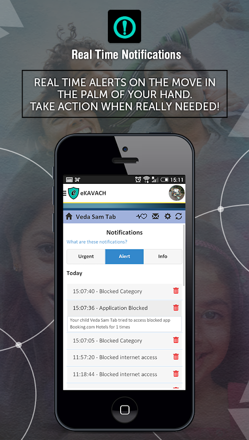 eKAVACH Parental Control App- screenshot