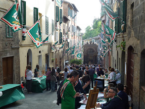 Photo: People in Oca Contrada getting ready for their annual festival