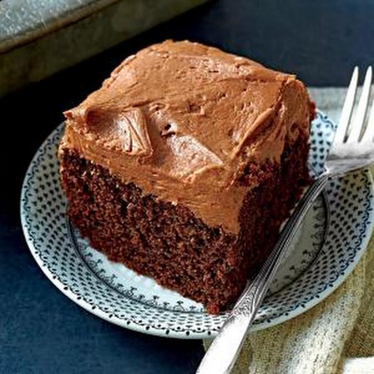 Chocolate Cake With Mayonnaise And Coffee