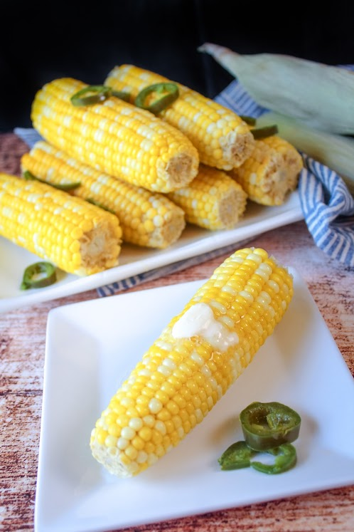 Boiled Corn with Jalapenos and Honey