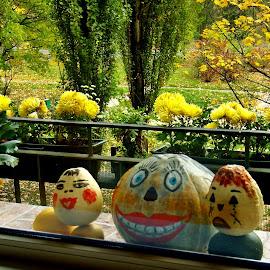 HALLOWEEN PUMPKINS by Wojtylak Maria - Public Holidays Halloween ( painted, decoration, autumn, pumpkins, vegetables, halloween,  )