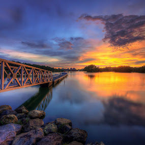 The Mirror Of The Sunset by Mohd Tarmudi - Landscapes Sunsets & Sunrises ( putrajaya,  )