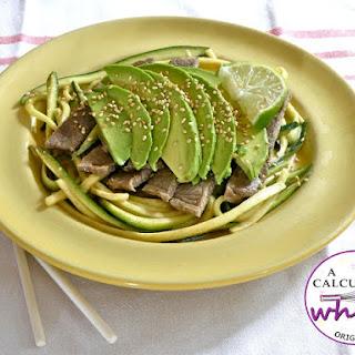 Sesame Lime Steak, Zucchini, & Avocado Salad.