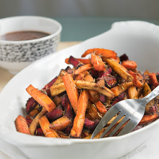 Paprika Thyme Veggie Fries with Homemade BBQ Sauce