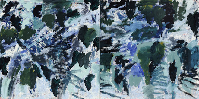 <p> <strong>Study: Broken ice</strong><br /> Oil &amp; oil stick on canvas<br /> 30&quot; x 60&quot; diptych<br /> 2020</p>