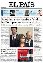"""Photo: En nuestra portada del sábado 31 de marzo. 1. Rajoy lanza una amnistía fiscal en los Presupuestos más restrictivos. 2. El BCE pide a España leyes de """"emergencia"""" para aplicar el ajuste. 3. El actor protagonista de Mad Men, Jon Hamm, trata de distinguirse a sí mismo de su personaje: """"Yo no soy Don Draper"""". 4. Vacaciones violentas con Juan Villoro. Lo último del escritor mexicano. http://srv00.epimg.net/pdf/elpais/1aPagina/2012/03/ep-20120331.pdf"""